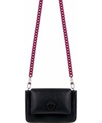 Elegantaní malá kožená kabelka Goshico černá f66c6a42f9d