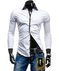Pánská košile BOLF 4750 bílá 2f84c95e37