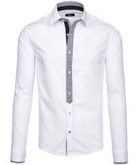 7601ec15dcc Bílá pánská elegantní košile s dlouhým rukávem Bolf 6873