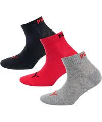 PUMA Sportovní ponožky šedá   červená   černá bd53edae45