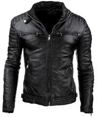 Kožená bunda (tx1660) - čierna 07-tx1660 1771b33e445