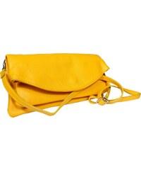 5efc971739 NovaKabelka.sk Žltá kožená kabelka Betta Gialla z Talianska