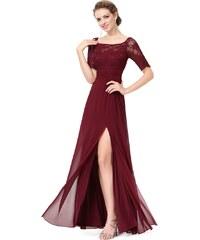 Elegantní Ever Pretty plesové šaty bordo 8793 c80db3e62d3
