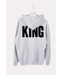 ForQueen Szabadidőfelső Oversize kapucnival King Back Grey  KQ  69e6792941
