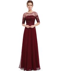 Vínové svatební společenské šaty s dopravou zdarma - Glami.cz 295318d767