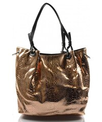 moderní lesklá černá kabelka na rameno vera Valeria 31322 - Glami.cz 4965f3e823d