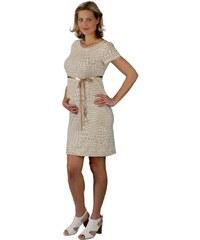 Těhotenské šaty Rialto LACLERE béžový puntík 7870 5d1df7cfad