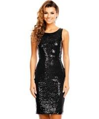 Společenské šaty flitrové značkové MAYAADI bez rukávu černé 7c080aa531