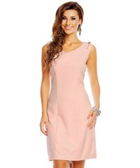 J J Společenské šaty značkové moderní střih s ozdobnými zipy na ramenou  růžové 400b224e00