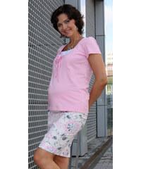 91f329b83fd Těhotenská sukně Rialto BEVER růžové květy 0036