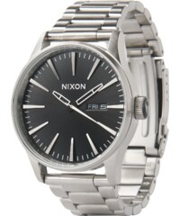 0f0fc8f3a41 Nixon Analogové hodinky  Sentry SS  černá   stříbrná