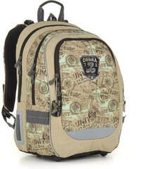 Školní batoh CHI 872 K brown - Doprava zdarma 0ac95626e0