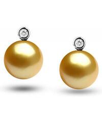 Eppi Zlaté juhomorské perly v náušniciach s diamantmi Darrisa 5e475efbb62