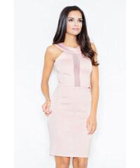 2406a2e29efb FIGL Dámske ružové šaty Alínia bez rukávov M299 - Glami.sk
