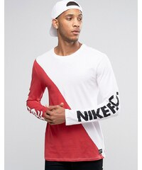 nike top manches longues blanc