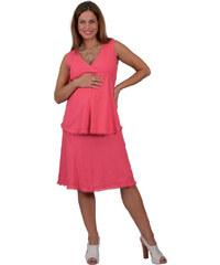 Těhotenská halenka RIALTO BEILER LNĚNÁ růžová 01243 0da5ebd006