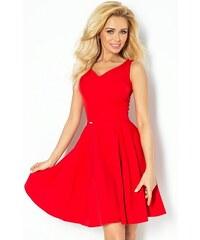 fe1fc7091e9 NUMOCO 114-3 elegantní šaty červené L