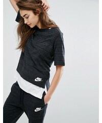 Nike Advance Top en maille Noir Noir