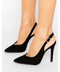 New Look Chaussures en suédine avec bride arrière Noir