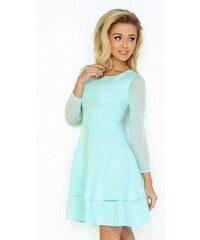 ce5c6388e80 Dámské elegantní šaty světle lososové 987 NUMOCO 98-7 - Glami.cz