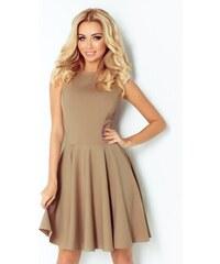 c0528413a60 NUMOCO 125-10 dámské elegantní šaty mocca M