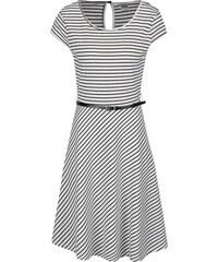 ccf53a6337f Černo-bílé pruhované šaty s páskem VERO MODA Vigga
