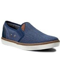 Tmavě modré dámské boty z imitované kůže - Glami.cz d353a9443b