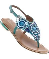 BODYFLIRT Bonprix - Sandales en cuir bleu pour femme