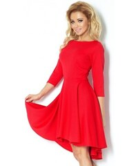 Luxusní dámské společenské a plesové šaty s 3 4 rukávem červené NUMOCO 90-4 12bce6a06c5