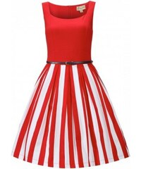 2c5e99a15af Dámské retro šaty Lindy Bop Bette Red Stripe Lindy Bop T6357468