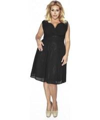 Krásné dámské šaty šifonové bez rukávu černé 1171 Kartes KM117-1PS e1b7964a5e