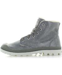 dd29cd007 Pánske sivé členkové topánky Palladium HI Leather S