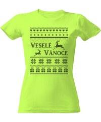 T-shock tričko s potiskem Vánoční svetr dámské 7fd0e902dc