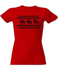 T-shock tričko s potiskem Norský vzor dámské dámské 6facf7ec46