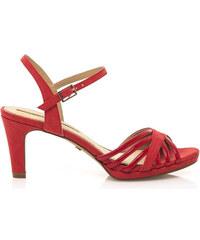 f8ddd31b02d Červené sandály na nízkém podpatku Maria Mare