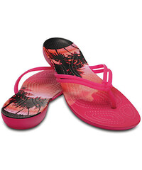 Crocs Dámské žabky Crocs Isabella Graphic Flip Candy Pink Tropical  204196-6JS 8837499bb3