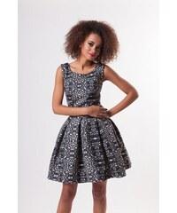 11e76b3fd1f MOSQUITO Dámské šaty Abstrakt černé