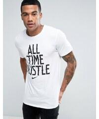 Nike T shirt avec grande inscription Blanc 834711 100 Blanc