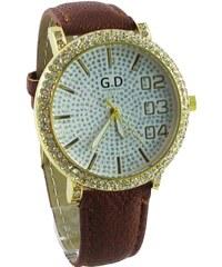 5d6710ea7ac Dámské hodinky G.D Luxory hnědé 031D - Glami.cz