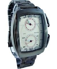 GD Quartz Pánské hranaté hodinky ALBERTO Tioro hnědé 085P aebe1b3432