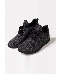 f2d8774477c Urban Classics Knitted Light Runner Shoe black grey black