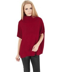 Urban Classics Ladies Knitted Poncho red 03991e1476