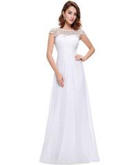 Ever Pretty bílé šaty s krajkou bb536d6394b
