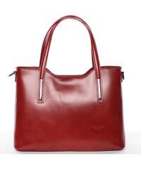 169202baf46 Delami Vera Pelle Elegantní kožená dámská kabelka do ruky Hilary