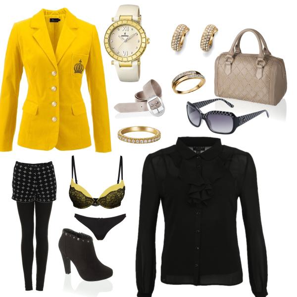 čeno-žlutá kombinace