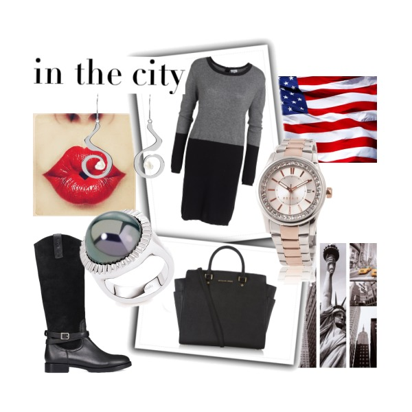 in the city