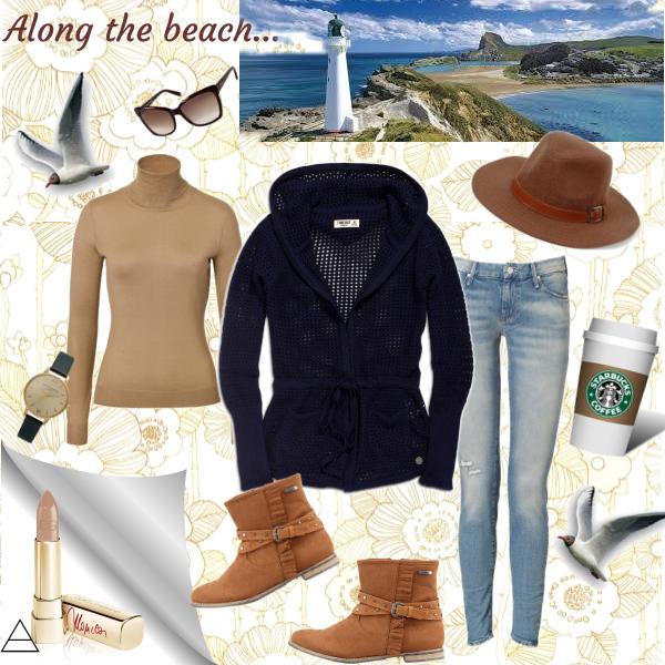 Along the beach...