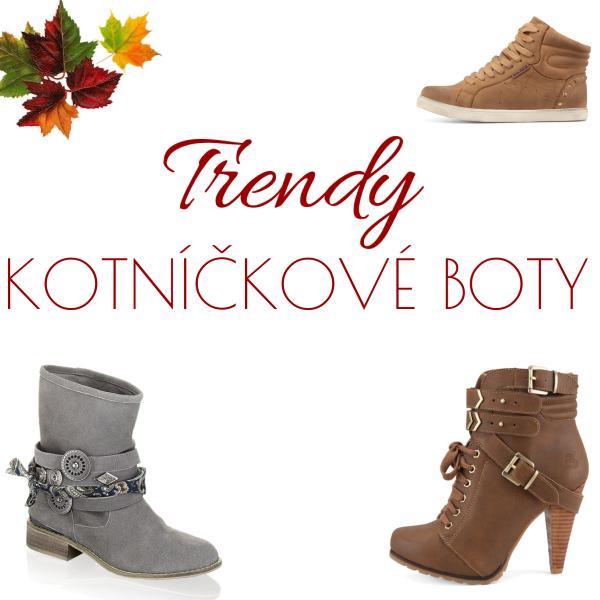 Trendy kotníkové boty