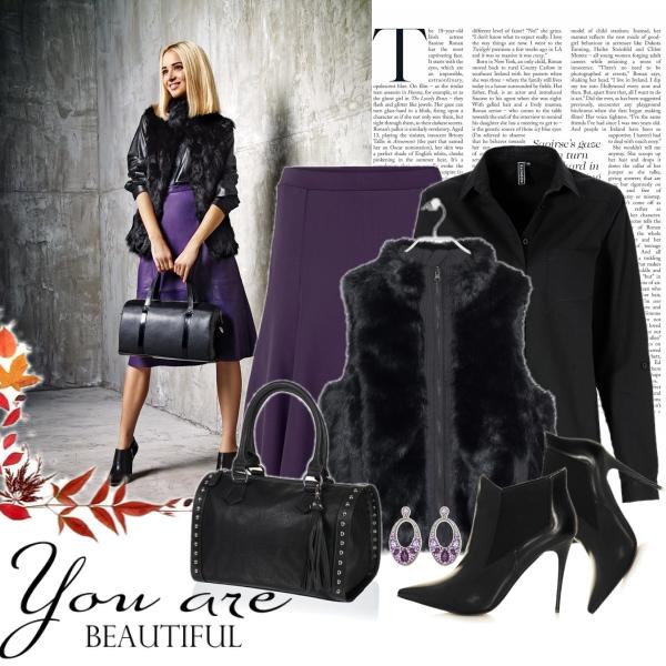 violet & black