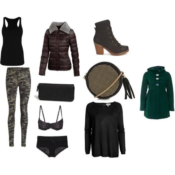 Zima po modním vojensku.